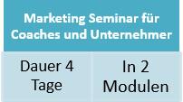 Marketing-Seminar für Coaches und Unternehmer