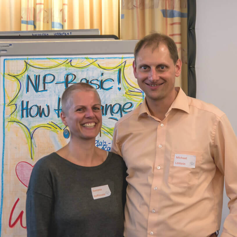 Kostenloses NLP Infoseminar - Referenten Ramona Hoffmann und Michael Löhlein - Pfalz NLP Academy